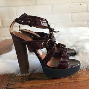 Lanvin ete 2008 Heeled Sandals Patent Strappy Heel